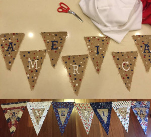 Patriotic Pennant Craft Project